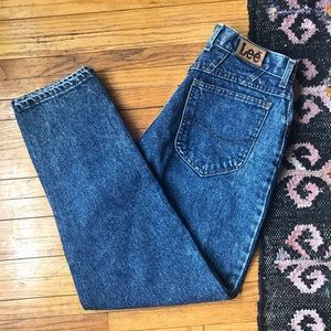 Vintage Lee High Rise Straight Leg Jeans